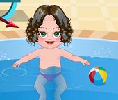 Малышка простудилась в бассейне