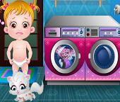 Малышка Хейзел стирает