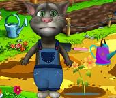 Кот Том садовник