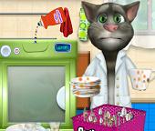Помогите Коту Тому помыть посуду