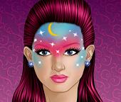 Девушка с макияжем  картина