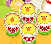 Готовим пирожные-цыплята