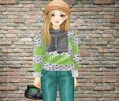 Мода. Цвета серый с зеленым в женской одежде