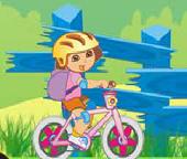 Дора. Велогонки  с шарами