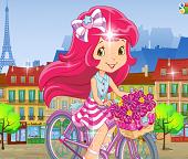 Девочка Земляничка /Клубничка/ путешествует по Парижу