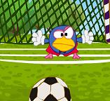 Вратарики Смешарики играют в футбол
