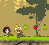 Белоснежка и принц спасают гномов
