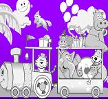 Лунтик. Раскраска – поезд  счастья