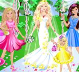 Платье свадебное для Барби