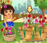 Дора любит цветы