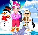 Малышка Джульетта на Северном полюсе