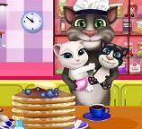 Говорящий Кот Том готовит блины