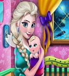 Дизайн детской комнаты для младенца Эльзы
