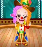 Малышка Хейзел в роли клоуна
