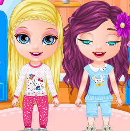 Пижамная вечеринка у малышок Барби