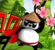 Панда  спасает свой сад