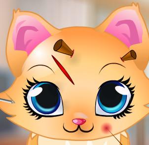 Одевалки и макияж с милым котенком