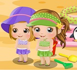 Малышка Алиска на пляже