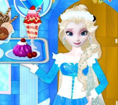 Принцесса Эльза готовит мороженое