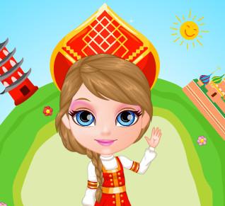 Одевалки с малышкой  Барби в костюмы со всего света