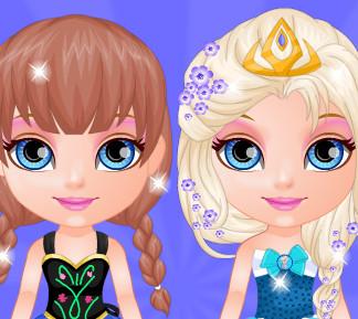 Малышка Барби в стиле принцесс из ,,Холодного  сердца