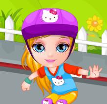 Малышка  Барби скейтбордистка