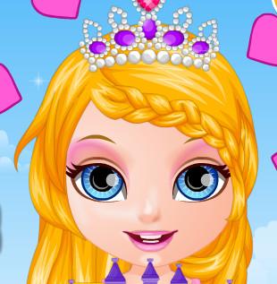 Малышка  Барби принцесса  в кукольном королевстве