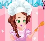 Малышка Джульетта готовит на кухне