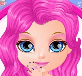 Шикарный маникюр для малышки Барби