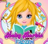 Малышка  Барби в стиле принцессы Эльзы
