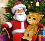 Говорящий котенок Джинджер и Дед Мороз