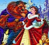 Пазлы с принцессой Белль и Чудовищем