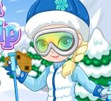 Малышка Эльза на лыжной прогулке