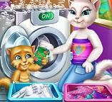 Анжела и Джинджер стирают