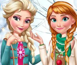 Новая зимняя одежда для принцесс Эльзы и Анны