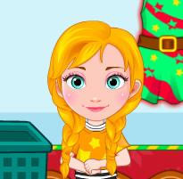 Рождественские покупки малышек Анны и Эльзы