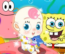 Губка Боб и Патрик ухаживают за Малышкой