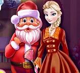 Принцесса Эльза убирается к приходу Деда Мороза
