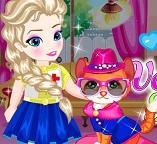 Играем с маленькой принцессой Эльзой в ветеринарного врача