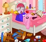 Уборка в комнате  кошечки Китти