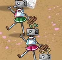 Атака школьниц роботов