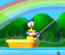 Дональд Дак на рыбалке