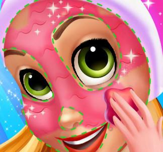 Принцесса Рапунцель постигает тонкости визажа и макияжа