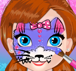 Рисунки на лице для принцессы Анны