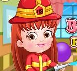 Малышка Хейзел пожарник
