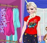 Эльза готовится к пижамной вечеринке