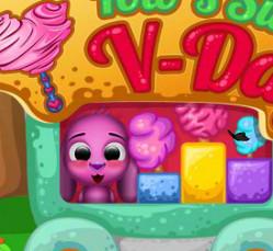 Пёсик Тото торгует сладостями