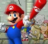 Марио сражается с зомби