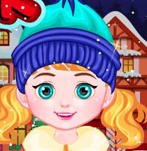 Зимние одевалки для малышек