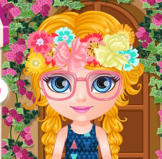 Малышка Барби шалит в цветочном магазине